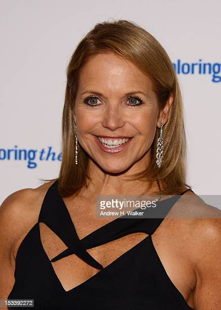 Katie Couric attends the 6Th Annual Exploring the Arts Gala hosted by Tony Bennett and Susan Benedetto at Cipriani 42nd Street on October 4 2012 in...