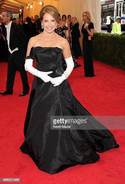 Katie Couric attends the Charles James Beyond Fashion Costume Institute Gala at the Metropolitan Museum of Art on May 5 2014 in New York City