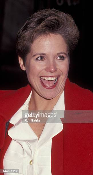 Katie Couric attends the performance of Guys and Dolls on May 7 1992 at the Martin Beck Theater in New York City