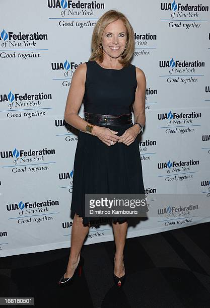 Katie Couric attends UJAFederation Of New York BroadcastCable And Film Award Celebration at The Edison Ballroom on April 9 2013 in New York City