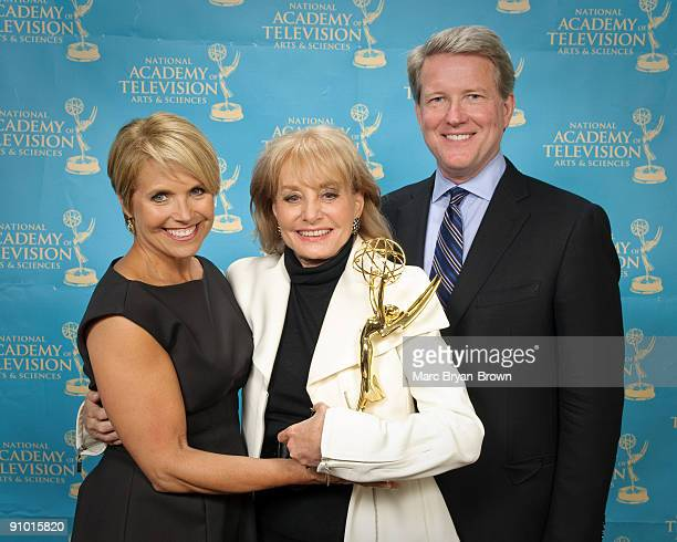 Katie Couric, Barbara Walters and David Westin attend the 30th annual News & Documentary Emmy Awards at Frederick P. Rose Hall, Jazz at Lincoln...