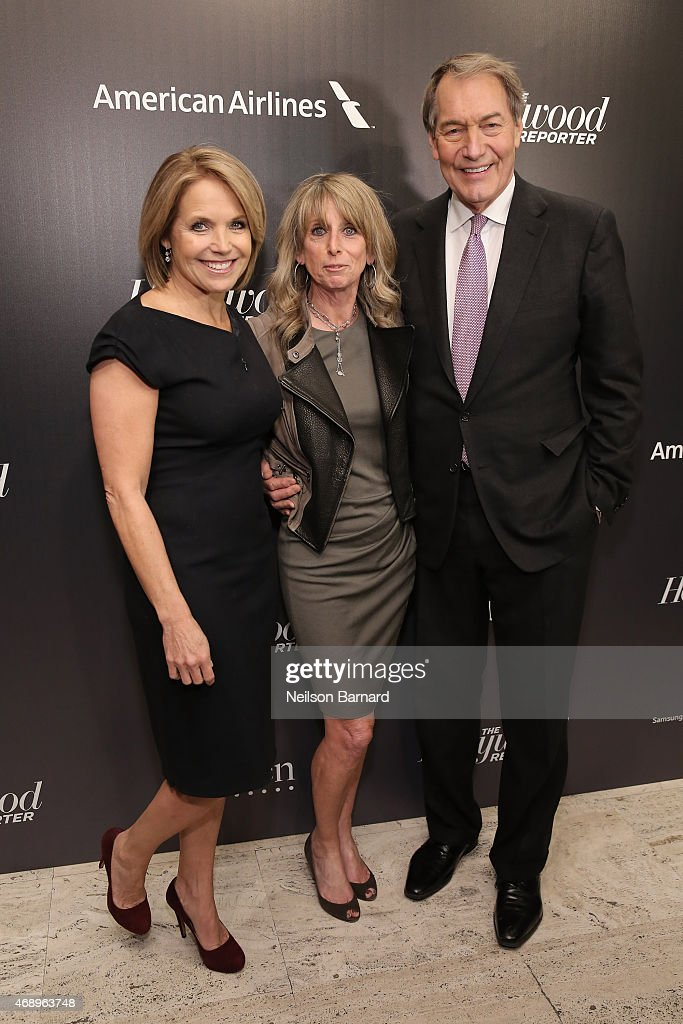 Katie Couric, Bonnie Hammer and Charlie Rose attend 'The 35 Most Powerful People In Media' celebrated by The Hollywoood Reporter at Four Seasons Restaurant on April 8, 2015 in New York City.