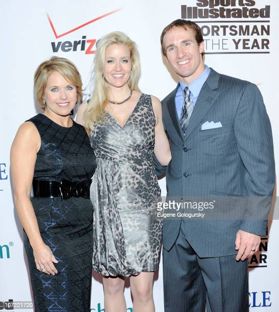 Katie Couric Brittany Brees and Drew Brees attend 2010 Sports Illustrated Sportsman of the Year Celebration Arrivals at IAC Building on November 30...