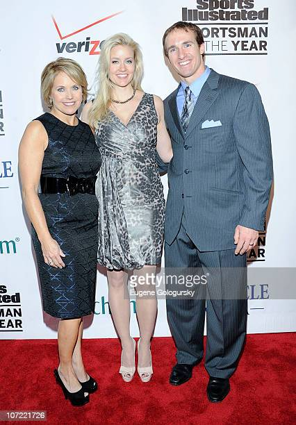 Katie Couric, Brittany Brees and Drew Brees attend 2010 Sports Illustrated Sportsman of the Year Celebration - Arrivals at IAC Building on November...