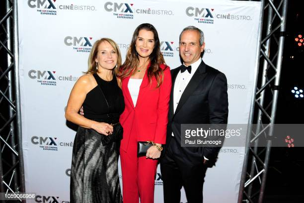 Katie Couric Brooke Shields and John Molner attend Opening Of CMX CineBistro With Special Screenings Of BlacKkKlansman City Lights Pretty Baby at CMX...