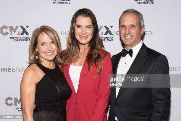 "Katie Couric, Brooke Shields, and John Molner attend the opening of CMX CineBistro with special screenings of ""BlacKkKlansman,"" ""City Lights,"" &..."