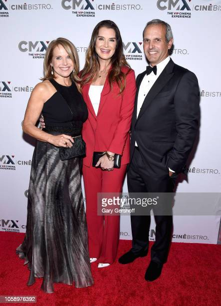 Katie Couric Brooke Shields and John Molner attend the opening of CMX CineBistro with special screenings of 'Blackkklansman' 'City Lights' and...