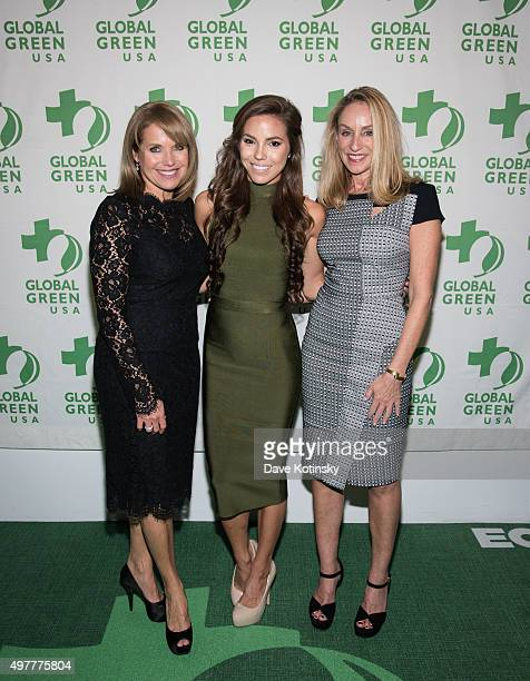 Katie Couric Courtney Turk and Tracy Pollan attend the Global Green USA 2015 Benefit The Future of Food at The Glasshouses on November 18 2015 in New...