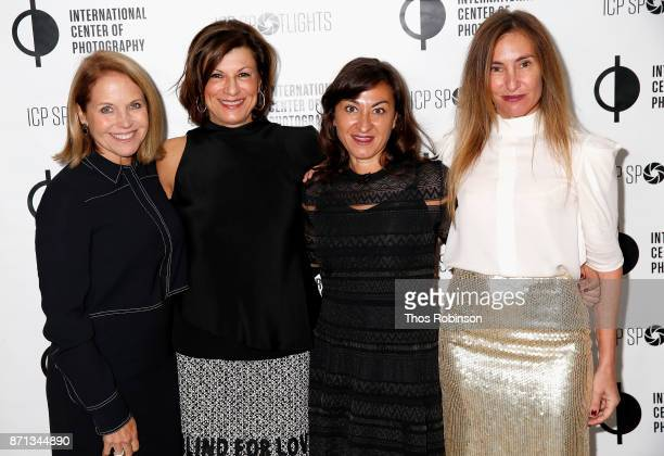 Katie Couric Debby Wilpon Lynsey Addario and Debby hymowitz attend The 2017 ICP spotlights luncheon honoring Pulitzer PrizeWinning photojournalist...