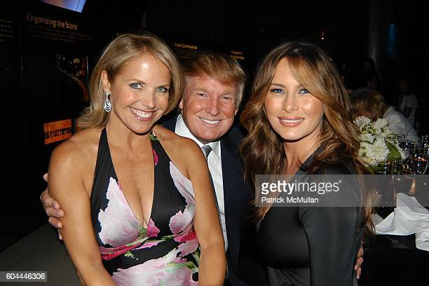 Katie Couric Donald Trump and Melainia Trump attend TONY BENNETT'S 80th Birthday Party Hosted by TARGET at Hayden Planetarium on August 3 2006 in New...