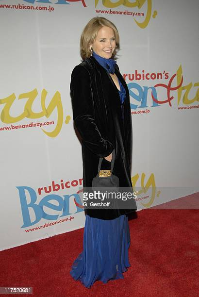 """Katie Couric during Gala Dinner Introducing """"Ben and Izzy"""" with Special Guest Her Majesty Queen Rania Al-Abdullah of Jordan at Metropolitan Museum of..."""