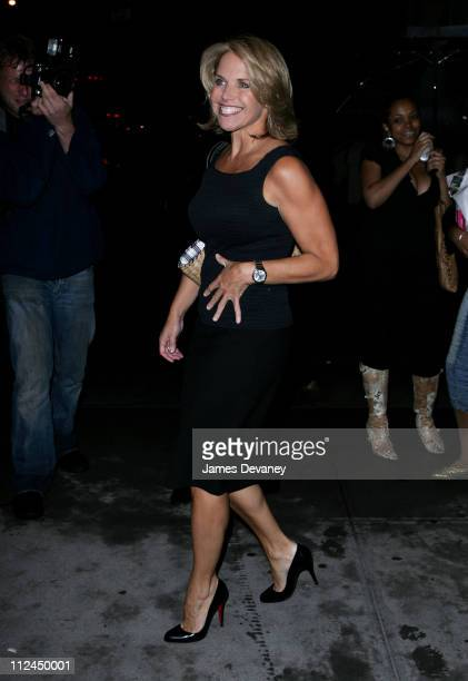 Katie Couric during Katie Couric Leaves CBS Studios September 5 2006 at CBS Studios in New York City New York United States