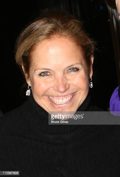Katie Couric during Katie Couric Visits 'Mary Poppins' on Broadway January 28 2007 at The New Amsterdam Theatre in New York New York United States