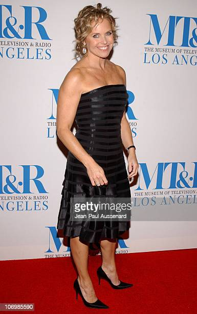 Katie Couric during The Museum of Television Radio Honors Leslie Moonves and Jerry Bruckheimer Arrivals at Regent Beverly Wilshire Hotel in Beverly...