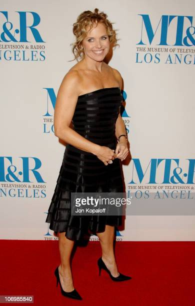 Katie Couric during The Museum of Television Radio Honors Leslie Moonves and Jerry Bruckheimer Arrivals at Beverly Wilshire Hotel in Beverly Hills...