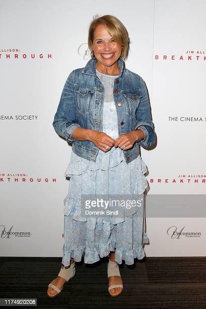 Katie Couric during the premiere of Jim Allison Breakthrough hosted by Dada Films with The Cinema Society at Landmark 57 on September 15 2019 in New...