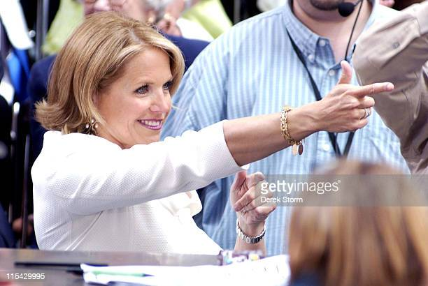 Katie Couric during The Today Show says Farewell to Katie Couric at Dean Deluca Plaza in New York City New York United States