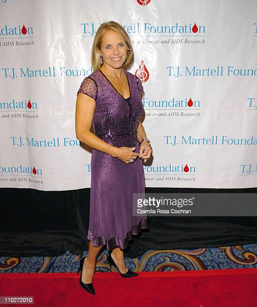 Katie Couric during TJ Martell Foundation October 6 2005 at Marriott Marquis in New York City New York United States
