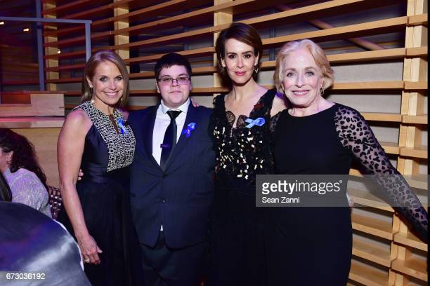 Katie Couric Gavin Grimm Sarah Paulson and Holland Taylor attend the 2017 TIME 100 Gala at Jazz at Lincoln Center on April 25 2017 in New York City