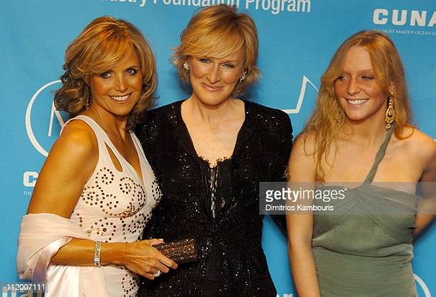 Katie Couric Glenn Close and Annie Maude Starke during Entertainment Industry Foundation's Colon Cancer Benefit on the QM2 Red Carpet at Queen Mary 2...