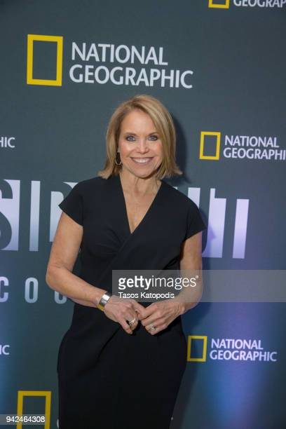 Katie Couric Host and Executive Producer attends National Geographic's screening of 'America Inside Out with Katie Couric' on April 5 2018 in...