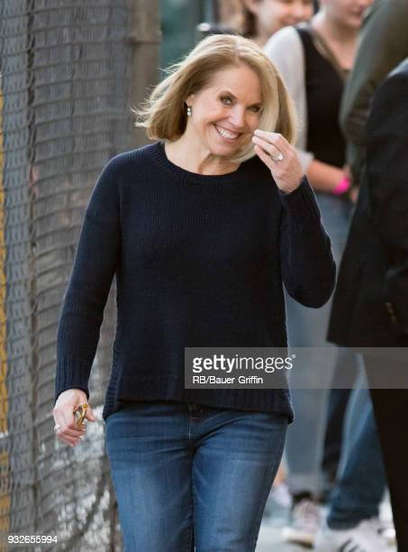 Katie Couric is seen at 'Jimmy Kimmel Live' on March 15 2018 in Los Angeles California