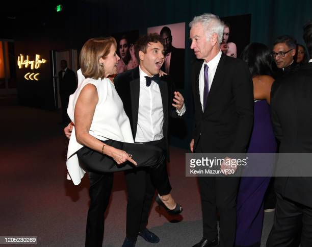 Katie Couric, Jon Lovett and John McEnroe attend the 2020 Vanity Fair Oscar Party hosted by Radhika Jones at Wallis Annenberg Center for the...