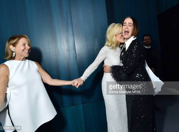 Katie Couric Judith Light and Sarah Paulson attend the 2020 Vanity Fair Oscar Party hosted by Radhika Jones at Wallis Annenberg Center for the...