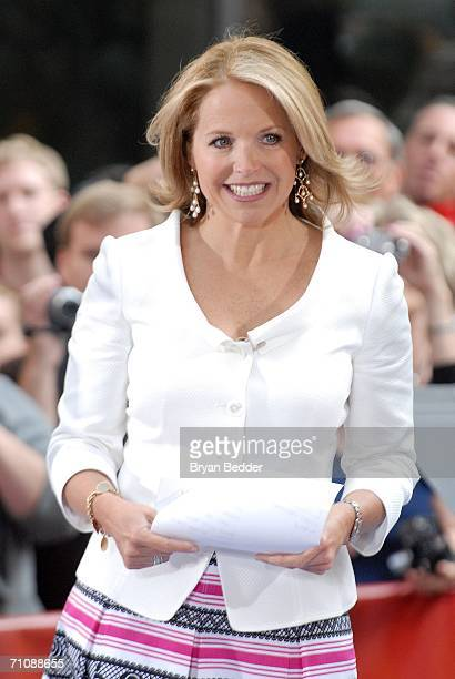 Katie Couric makes her final appearance on the NBC 'Today' show during a family and friends farewell program for her May 31 2006 in New York City...