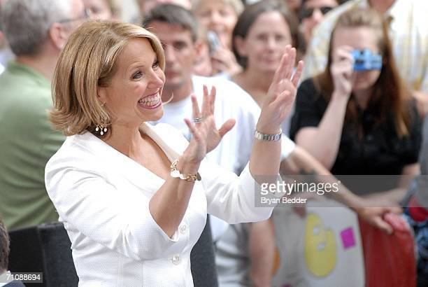 """Katie Couric makes her final appearance on the NBC """"Today"""" show during a family and friends farewell program for her May 31, 2006 in New York City...."""