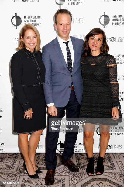 Katie Couric Mark Lubell and Lynsey Addario attend The 2017 ICP spotlights luncheon honoring Pulitzer PrizeWinning photojournalist Lynsey Addario on...
