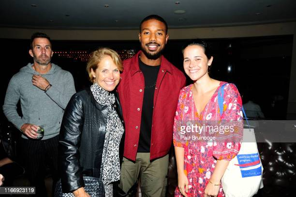Katie Couric Michael B Jordan and Caroline Couric Monahan attend Warner Bros Hosts A Reception for Just Mercy at 8 1/2 on September 8 2019 in New...