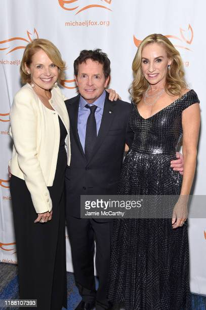 R Katie Couric Michael J Fox and Tracy Pollan attend A Funny Thing Happened On The Way To Cure Parkinson's benefitting The Michael J Fox Foundation...