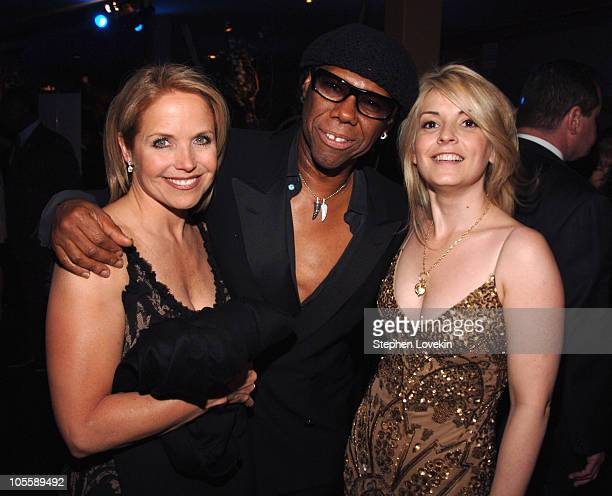 Katie Couric Nile Rodgers and Nancy Hunt President of We Are Family Foundation