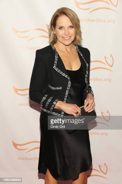 Katie Couric on the red carpet of A Funny Thing Happened On The Way To Cure Parkinson's benefitting The Michael J Fox Foundation at the Hilton New...