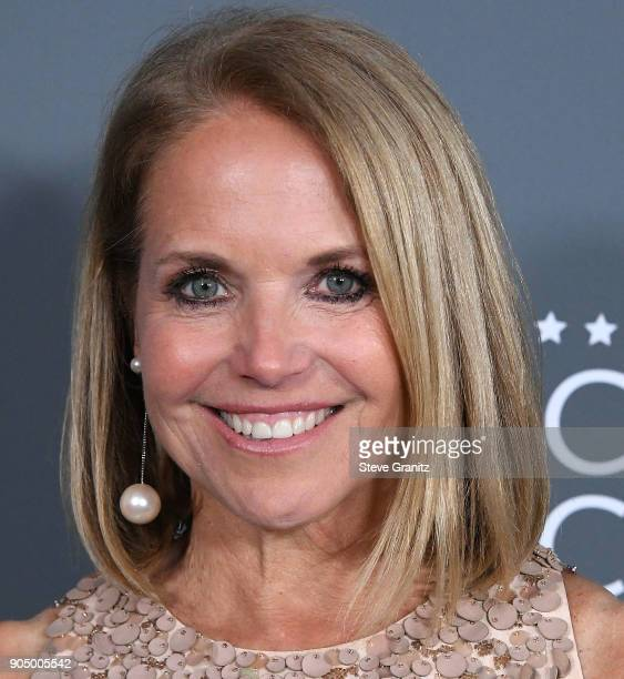 Katie Couric poses at the The 23rd Annual Critics' Choice Awards at Barker Hangar on January 11 2018 in Santa Monica California