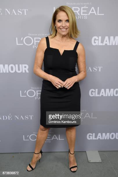 Katie Couric poses backstage at Glamour's 2017 Women of The Year Awards at Kings Theatre on November 13 2017 in Brooklyn New York