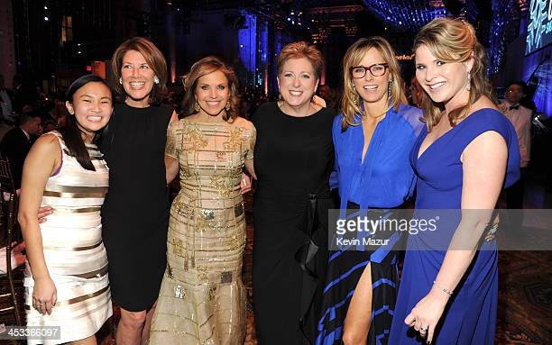Katie Couric President and CEO US Fund UNICEF Caryl Stern Tea Leoni and Jenna Bush Hager attend The Ninth Annual UNICEF Snowflake Ball at Cipriani...