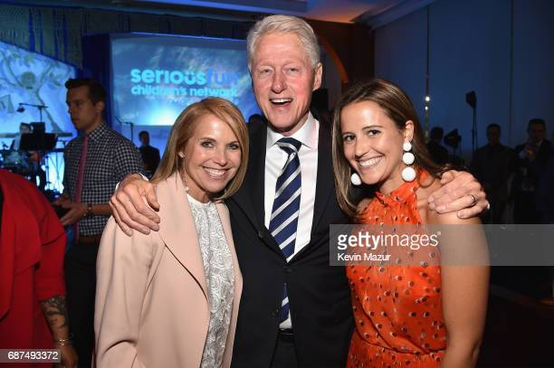 Katie Couric President Bill Clinton and Ellie Monahan attend the SeriousFun Children's Network Gala at Pier 60 on May 23 2017 in New York City