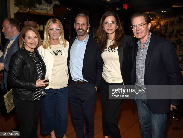 Katie Couric Sandra Lee John Molner Desiree Gruber and Kyle MacLachlan attend the after party for the HBO Documentary Film 'RX Early Detection A...