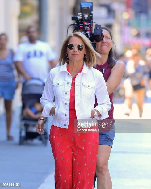 Katie Couric seen out and about in Manhattan on July 10 2018 in New York City