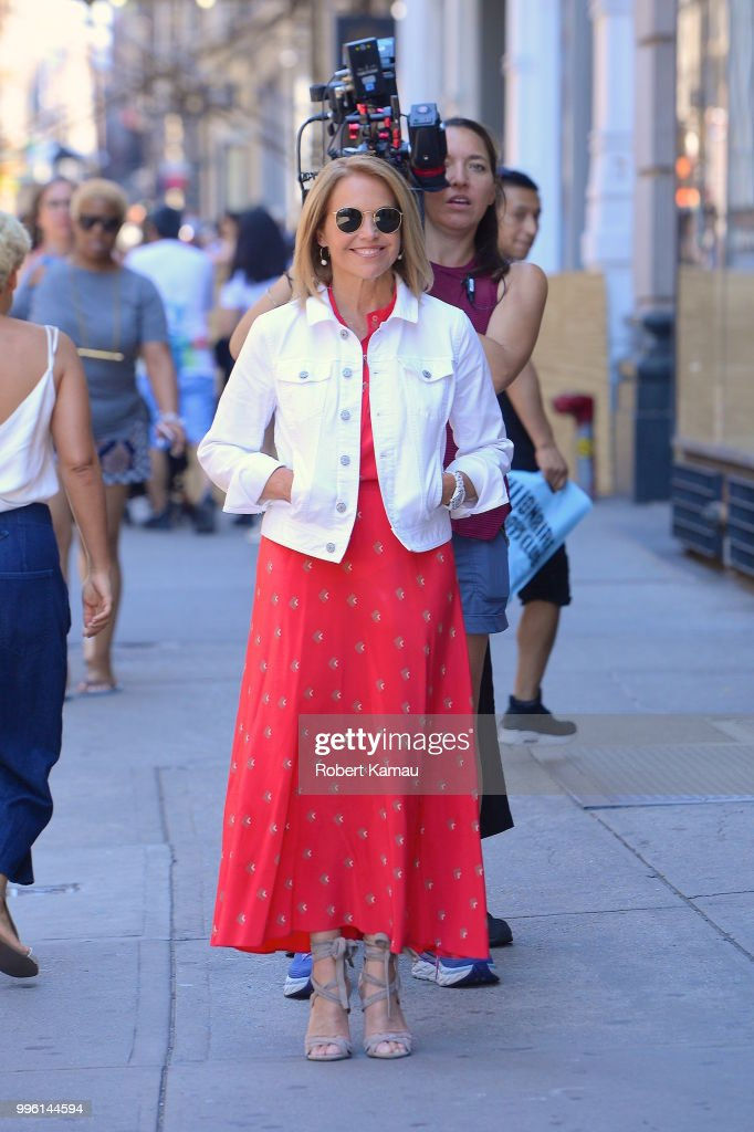 Katie Couric seen out and about in Manhattan on July 10, 2018 in New York City.