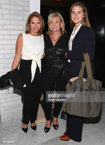 Katie Couric Sharon Bush and Lauren Bush Lauren attend A Dinner For The Ladies Celebrating 100 Female Trailblazers at Highline Ballroom on September...