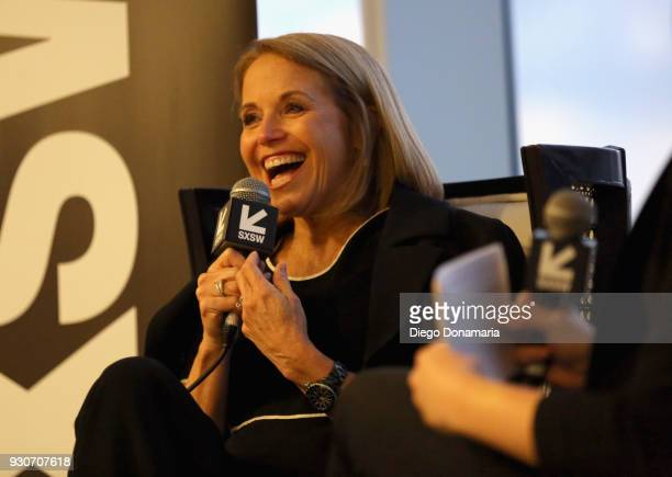 Katie Couric speaks at the Featured Speaker Connect with Katie Couric during SXSW at Fairmont Austin on March 11 2018 in Austin Texas