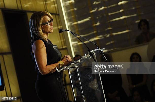 Katie Couric speaks on stage during The Daily Front Row's Third Annual Fashion Media Awards at the Park Hyatt New York on September 10 2015 in New...