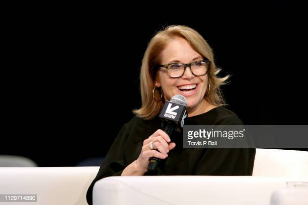 Katie Couric speaks onstage at Featured Session A Better Future Through Digital Health during the 2019 SXSW Conference and Festivals at Austin...