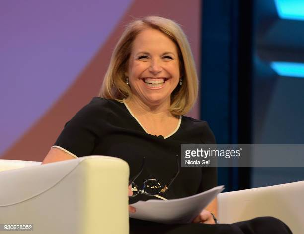 Katie Couric speaks onstage at Katie Couric podcast LIVE The Muslim Next Door during SXSW at Austin Convention Center on March 11 2018 in Austin Texas