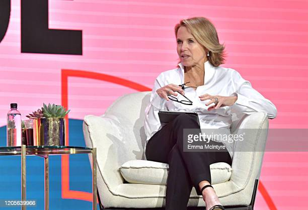 Katie Couric speaks onstage during The 2020 MAKERS Conference on February 11 2020 in Los Angeles California