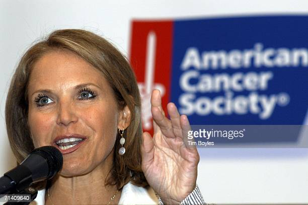 Katie Couric speaks to about 300 guests during a breakfast with the American Cancer Society July 10 2006 at Ruth Eckerd Hall in Clearwater Florida...