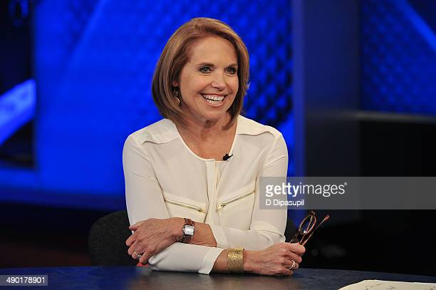 Katie Couric visits The O'Reilly Factor at FOX Studios on May 13 2014 in New York City